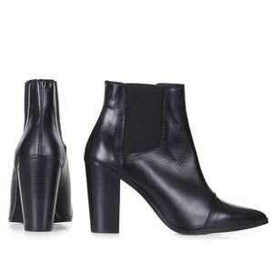 TopShop monopoly pointed cheap sea boots heels 39